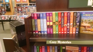 cozy mystery section - barnes and noble