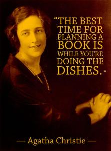 Agatha Christie - Plan a book while doing dishes