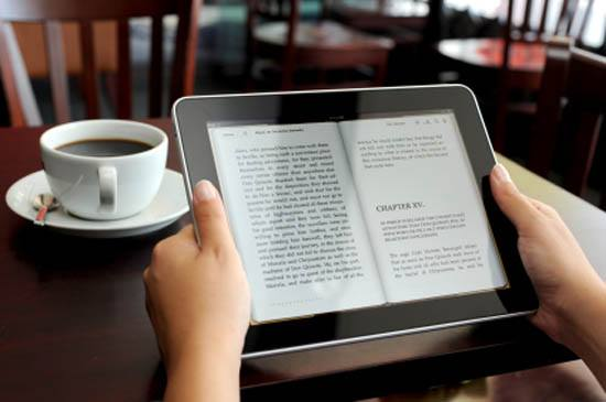 reader reading e-book