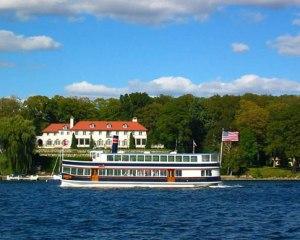 lake geneva boat tour summer mansions