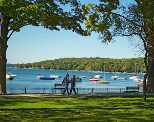 lake geneva wisconsin summer view from library park